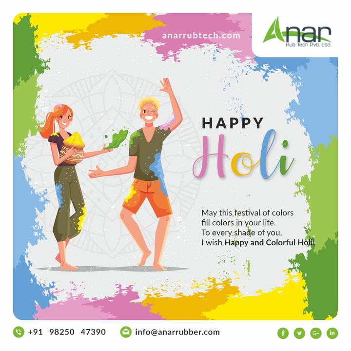 May this festival of colors fill colors in your life. To every shade of you, I wish happy and colorful holi! #rubberroller #anarrubtechpvtltd #rubbersleeves #rubberexpander #rubberproducts #holi #happyholi #india #holifestival #love #festival #colours #holihai #festivalofcolors #indianfestival #color #holifestivalofcolours #holi2021 #holifestival2021 #airshaft #safetychuck