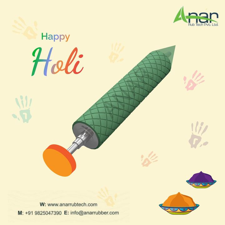 May the colours of Holi bring to you durable and efficient business equipment for a brighter future.  #happyholi #holi2021 #happyholi2021 #happyholi2021😍🌈🎭💥💥🔫🎨🖌️🖍️ #topicalpost #trendingpost #festival #holihaibhaiholi #rubberrollers #manufacturing #manufacturingindustry