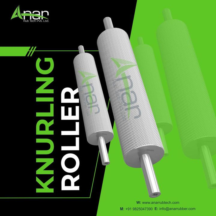 We at Anar Rub Tech are provider of knurling Roller which are also called Brush Roller and majorly useful in Industries like construction, printing machine Industry, Rubber Industry, and many more.  Know more information about a product, contact us at +91-9825047390 or visit our website: anarrubtech.com  #rubberroller #printingindustry #paperindustry#packagingindustry #plasticindustry #textileindustry #businessequipments #grooverollers #rubberrollers #Knurlingroller #rimzimroller #embossingroller #diamondroller #plasticrimzimroll #blownfilmmachine #sutliplant #boxstrapingmachine