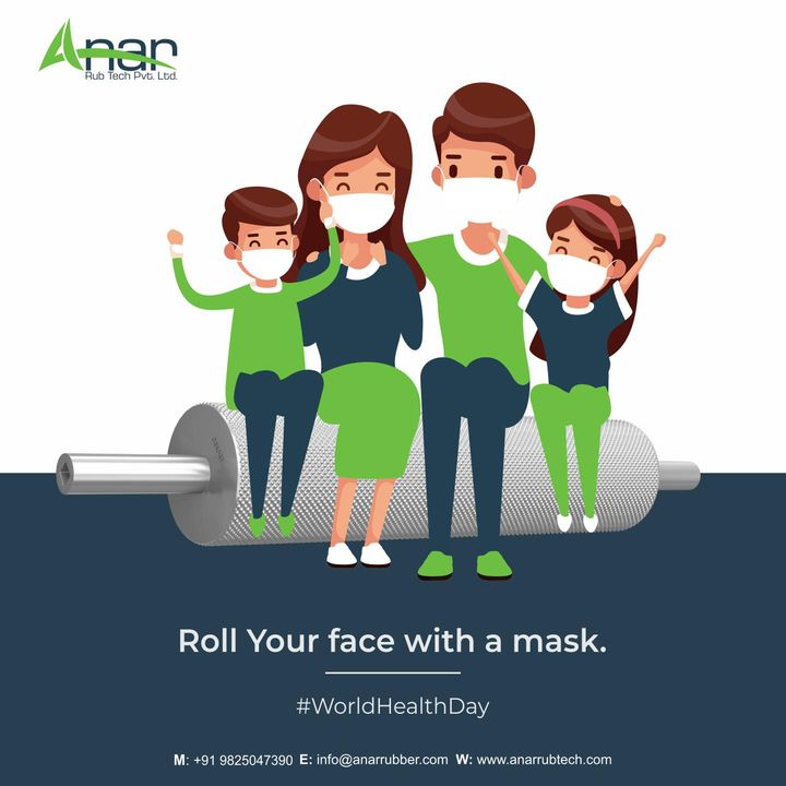 This #worldhealthday Stay at your home with your family for their better health and safety.  #worldhealthday #anarrubtech #anarrubtechpvtltd #rubberroller #rubberrollers #rubberrollermachine #rubberrollerservices #healthday