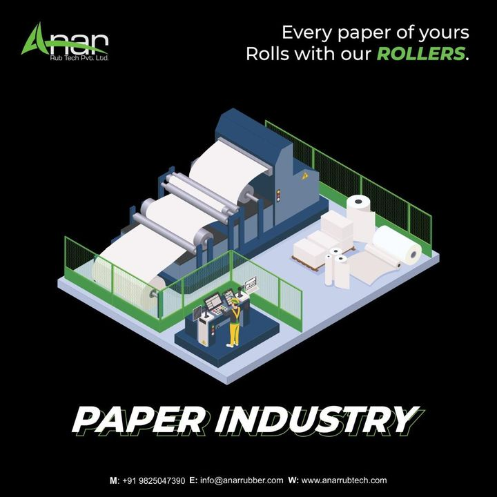 Papers that you use daily have been rolled out from our rollers. Our rollers have made huge contribution for the paper industry.      To know more about us, visit our website anarrubtech.com or give us a call at +91-9825047390  #rubberroller #paperindustry #papermill #camberroller #Metalbowroller #metalexpanderroller #metalexpanderroller #rubberrollers #bowroller #bananaroller #bowroll #businessequipments #rubberroller #pulp #paper #worldpapermill #tissuepaper #embossingroller #paperex