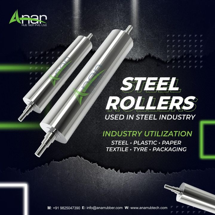The industry-centric Steel Rollers are known in the industry circles for demonstrating unique qualities during application. For more Information visit to this website  Website :- www.anarrubtech.com Email Id :- info@anarrubber.com                                                                                                                                                                                    #IndustrialRollers #IndustrialSteelRollers #IndustrySpecificSteelRollers #manufacturing #industry #Steel #rollers #import #export #importexport #manufacturingplant #manufacturers #suppliers #Ahmedabad #Gujarat #India #hardchromeplatingroller #chromeroller #platingroller #hardroller  #rubberrollers #rollers #roller #Shaft  #materials #lengths #journals #Mounting #Specification #mirrorroller #supermirrorroller #ssroller #hardchromeroller #hardcromeroller #hardchromeplatedroller #chromeplatingroller #drumroller #niproller #anarrubber #anarrubtech