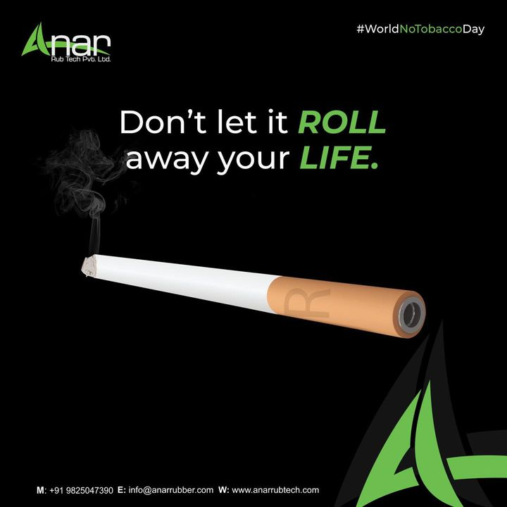 It's never too late to quit the habit. Do it before it rolls away your life and loved ones.  #worldnotobaccoday  #notobaccoday #notobaccoday2021  #saynotocigarette #saynototobacco #topicalpost #topicalspot #trendingnow #trending #socialsamosa #rubberroller #rubberrollers #industrialroller