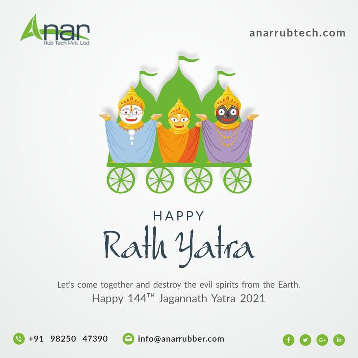 May Lord Jagannath bless you with good times and prosperity.  #rathyatra #rubberroller #RathYatra2021 #AnarRubTech