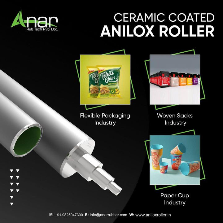 Our Ceramic Anilox Rollers are extremely lightweight and resistant to heating & vibration.    Visit us at aniloxroller.in or contact +91 9825047390  #aniloxroller #aniloxrollers #ceramicaniloxroller #aniloxsleeve #ciflexo #flexographicprinting #gravureprinting #flexiblepackagingindustry #wovensacksindustry #papercupindustry #BOPPtapeindustry #offsetindustry #paperindustry #flexiblepackagingindustry #wovensacksindustry #papercupindustry