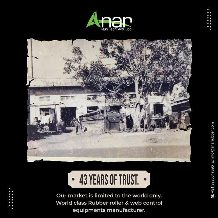43 years of trust, 43 years of quality services.   Industry's best rubber roller and web control equipments manufacturer.   With this, we promise our dedication and loyalty to our clients and our products.  Our market and services are always wide open for the world.   #rubberroller #paperindustry#packagingindustry #plasticindustry #textileindustry #businessequipments #rubberrollers #wallpaper #plasticpackaging #extrusionmachine #textileindustry #manufacturingindustry #anarrubtech #anarrubber