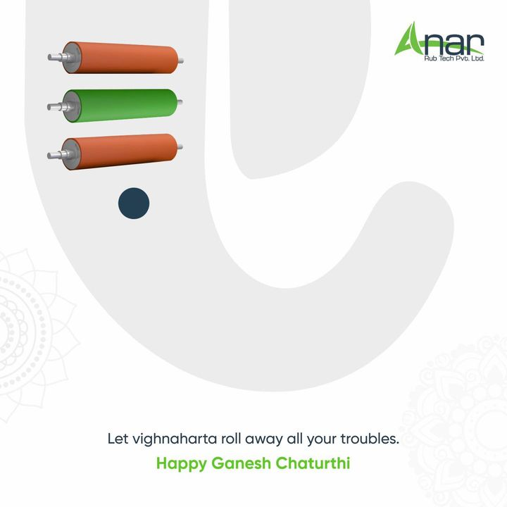 May his wisdom enlighten us to roll towards a better life at every phase.  Anar family heartily wishes you, Happy Ganesh Chaturthi!  #ganeshchaturthi #ganeshchaturthi2021 #happyganeshchaturthi #happyganeshchaturthi2021 #topicalpost #topicalspot #trending #rubberroller #webcontrolequipments #industrialrubberroller #socialsamosa