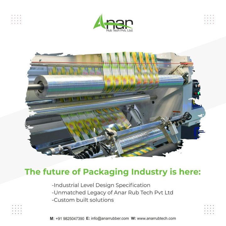 The future of packaging industry is immeasurable.   From industrial level design specification to custom built solutions.  It's just the beginning.  Take a step towards the future and start rolling with Anar.   Visit anarrubtech.com for more details!  #flexographicprinting #gravureprinting #flexiblepackagingindustry #wovensacksindustry #papercupindustry #textileindustry #BOPPtapeindustry #packaging #packagingindustry #anarrubtech #rubberroller #industrialrubberroller