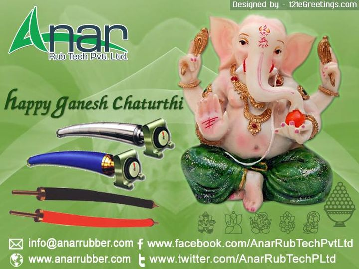 May Lord Ganesha fullfill your all the Dreams and Wishes.Happy Ganesh Puja……  #AnarRubTech #RubberRoller #SafetyChuck #AirExpandingShaft #PURoller #AirShafts #121eGreetings #eGreetings #Greetings #SocialMediaPromotion #SocialMediaMarketing