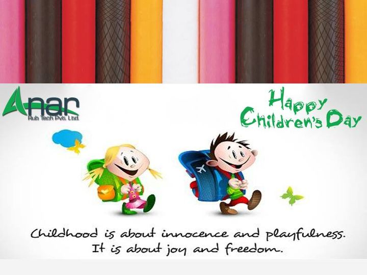 Childhood is about innocence and playfulness.  It is about joy and freedom.  #HappyChildrenDay #ChildrenDay   #AnarRubTech #LeafTypeAirExpandingShaft #RubberRoller #RubberExpander #SafetyChuck #AirExpandingShaft #PURoller #AirShafts