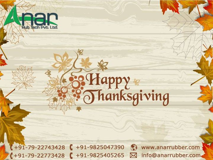 Thanksgiving is nothing if not a glad and Reverent lifting of the heart to God In honor and praise for His goodness.  Happy Thanksgiving!  #AnarRubTech #LeafTypeAirExpandingShaft #RubberRoller #RubberExpander #SafetyChuck #AirExpandingShaft #PURoller #AirShafts