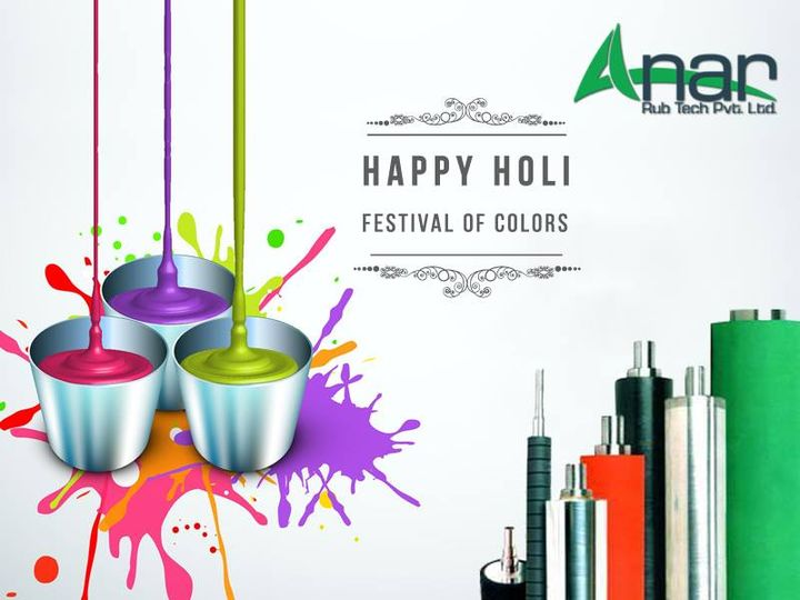 Wish you colors of life Let there be... WHITE of LUV & PEACE GREEN of MONEY  YELLOW of FAME RED of POWER and Mix of all to remember good people.  Happy Holi  #happyholi #holi #AnarRubTech #LeafTypeAirExpandingShaft #RubberRoller #RubberExpander #SafetyChuck #AirExpandingShaft #PURoller #AirShafts