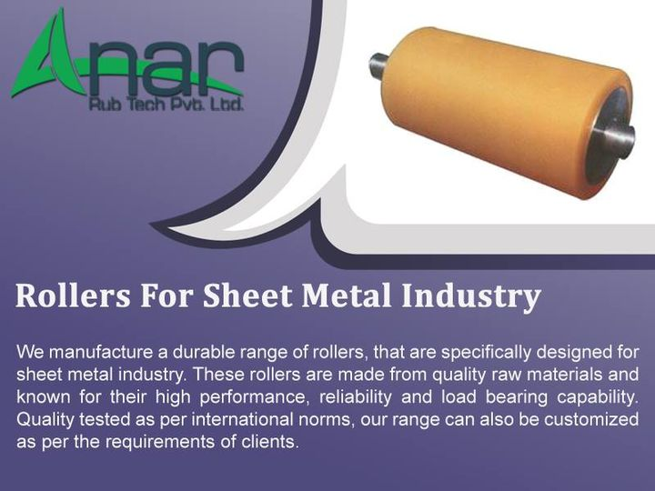Rollers For Sheet Metal Industry  We are engaged in Qualitying and manufacturing a wide range of Rollers for Sheet Metal Industry to our clients all over the world. Our products are made up of high quality raw material sourced from a reliable and experienced vendor from the industry. These are quality checked at every single step of production as per the international norms and standards. Our products are exclusively designed and fabricated for the sheet metal industry.  www.anarrubber.com  #AnarRubTech #LeafTypeAirExpandingShaft #RubberRoller #RubberExpander #SafetyChuck #AirExpandingShaft #PURoller #AirShafts