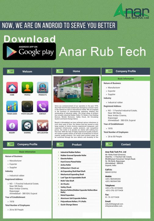 """Now, we are on android to serve you better  Search """"Anar Rub Tech"""" & Download from play store   OR click  https://play.google.com/store/apps/details?id=com.AnarRubTech&hl=en  #AndroidApp #AnarRubTech #DownloadAndroidApp #AnarRubTechPvtLtd"""