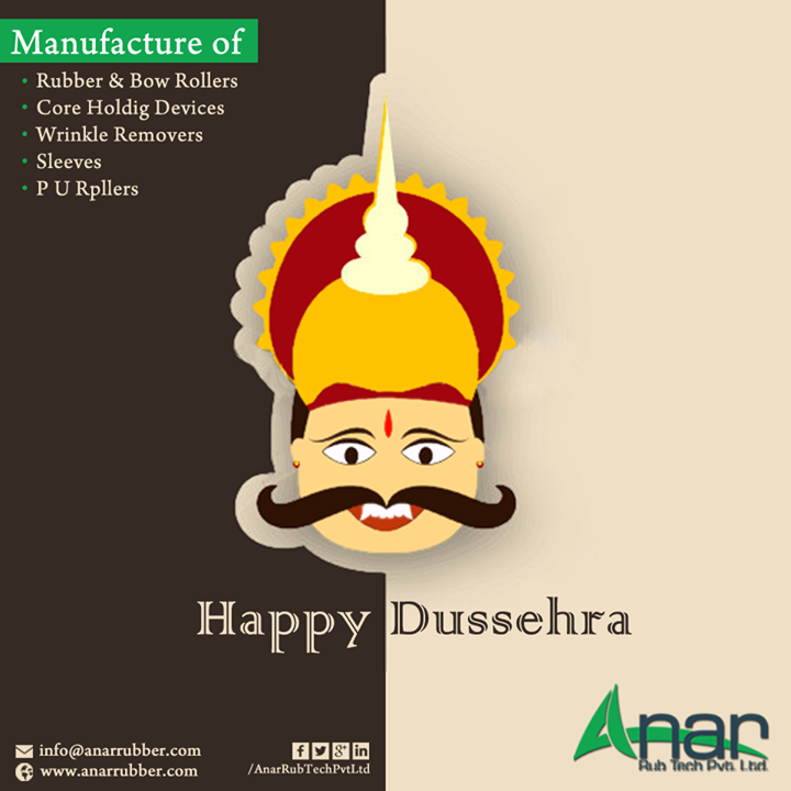 Anar Rub:-wish you very Wonderful Happy Dussera..  Happy Dussehra..!!  #HAPPY #DUSSEHRA #HAPPYDUSSEHRA #AnarRubTechPvtLtd #AnarRubTech #AnarRubber