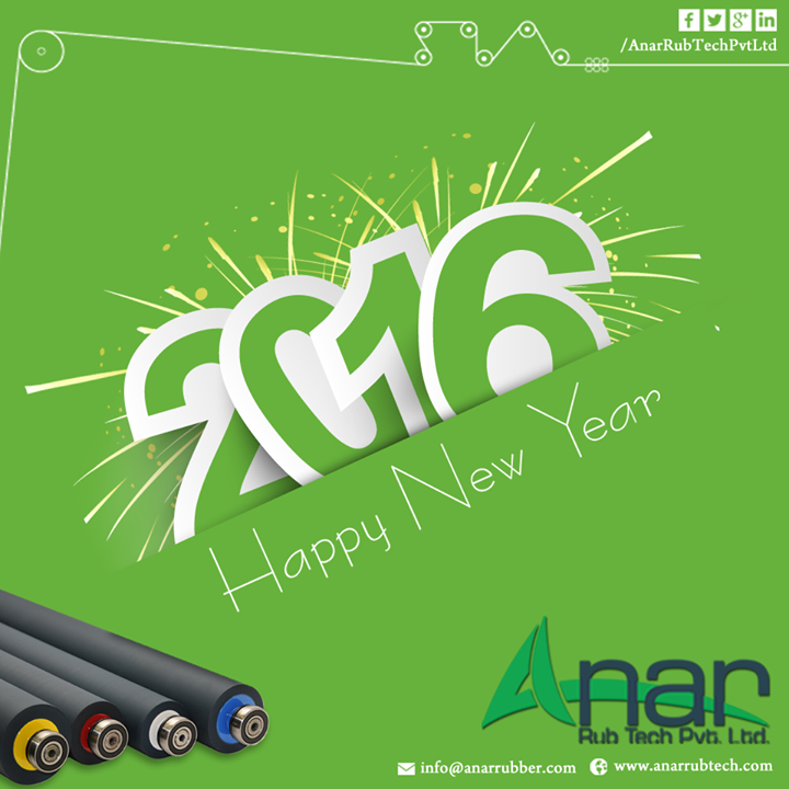 May you get succeed in the year 2016 and achieve all your goals you have set.  #wish #Happy #NewYear #AnarRubtech #RubberRoller #Anar #Rubber
