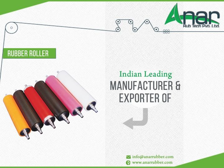 Anar Rub Tech Pvt Ltd - #India's leading #manufacturer & #exporter of #Rubber #Roller  #RubberRoller #AnarRubber
