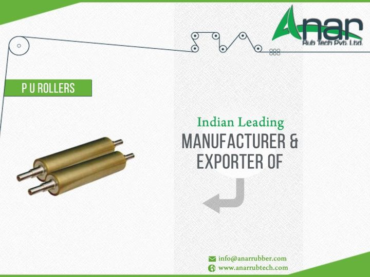 Anar Rub Tech Pvt Ltd - #India's leading #manufacturer & #exporter of #PURoller  #RubberRoller #AnarRubber