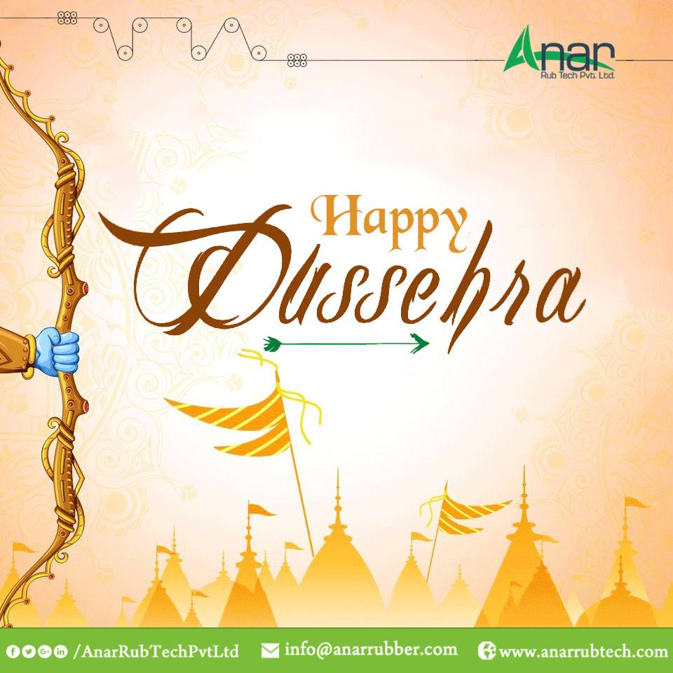 May this Dussehra light up for you with the win of virtues over evils and bringing happiness in your life. #HappyDussehra #Dussehra #RubberRollerManufacturers   #RubberRollerSuppliers   #RubberRollerExporters