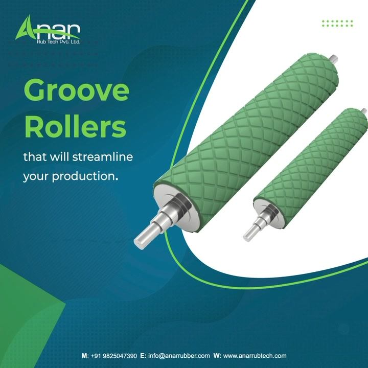 Does your industry have the requirements of Groove Rollers?  To know more about us, visit our website anarrubtech.com or give us a call.   #rubberroller #airshaft #grooverollers #packagingindustry #plasticindustry #diamondgrooveroller #chexroller #windertubberroller #groovedroller #rhlhgrooveroller #textileindustry #businessequipments