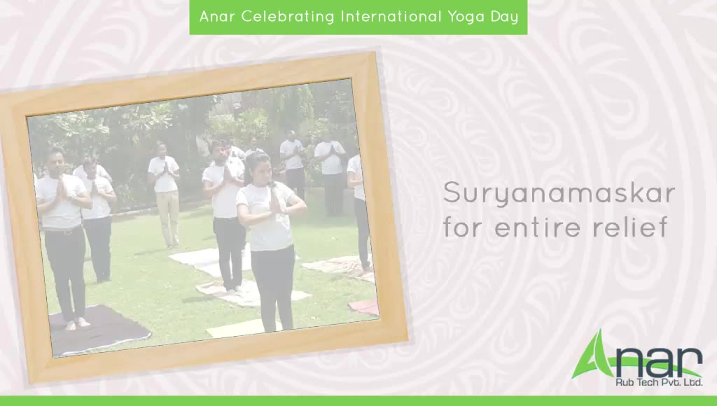 International Yoga Day celebrated at Anar Rub Tech with staff members to take in the positivity with various yoga postures and felt the bond with the spirit of nature. #InternationalYogaDay #YogaDay