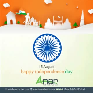 On this Independence day, feel pride to be an Indian and free to have rights of equality and livelihood in this golden country.  #happyindependenceday #RubberRollerManufacturer  #RubberRollerExporters  #RubberRollerSuppliers