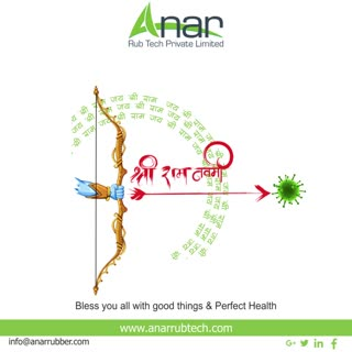 May the almighty Lord Rama bless you all,with good things and perfect health.Happy Ram Navami !! #ramnavami #rubberroller #anarrubtechpvtltd #rubbersleeves #rubberexpander #rubberproducts #stayhome  #staysafe #coronavirus #covid19