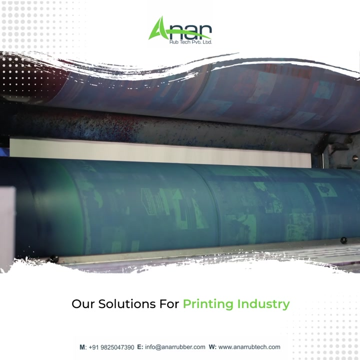 Choose according to the needs of your business!   Anar offers a wide range of solutions for printing industries.   Commence your effortless manufacturing process today!  #anarrubtechpvtltd #anarrubtech #printingindustry #flexoprintingmachine #screenprinting #rubberrollers #rubberroller #rubberrollermachine #industrialrubberroller