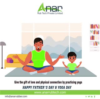 Give the gift of love and physical connection by precticing YOGA.Happy Father's Day and World Yoga Day..!! #rubberroller #anarrubtechpvtltd #rubbersleeves #rubberexpander #rubberproducts #stayhome  #father'sday #worldyogaday