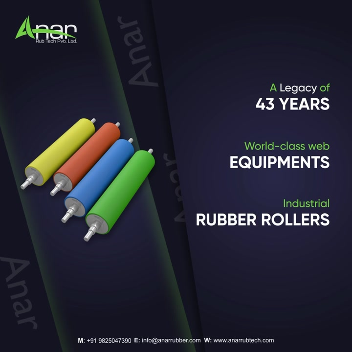 One-stop for all business equipments  Visit our website anarrubtech.com or give us a call at +91-9825047390  #rubberroller #paperindustry#packagingindustry #plasticindustry #textileindustry  #businessequipments  #rubberrollers #wallpaper #plasticpackaging  #foil #textileindustry #manufacturingindustry