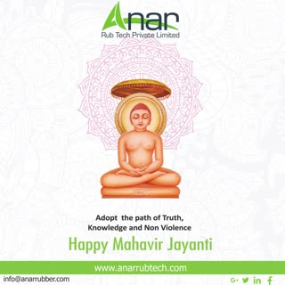 May lord Mahavir bless you Abundantly and fill your life with virtue of truth Non Violence External Compassion.Happy Mahavir Jayanti. #happymahavirjayanti #rubberroller #anarrubtechpvtltd #rubbersleeves #rubberexpander #rubberproducts #stayhome #staysafe #coronavirus #covid19